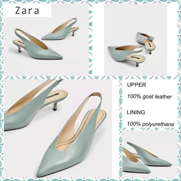 422b9b647d Zara Shoes   Womens Green Leather Pumps Size 6   Poshmark